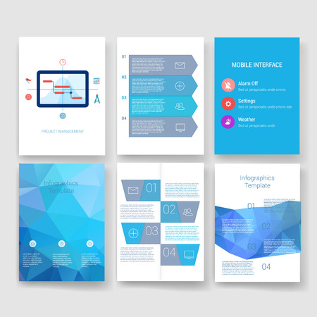 digital print: Templates. Design Set of Web, Mail, Brochures. Mobile, Technology, and Infographic Concept. Modern flat and line icons. App UI interface mockup. Web ux design.