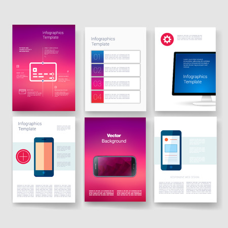 web site design template: Templates. Design Set of Web, Mail, Brochures. Mobile, Technology, and Infographic Concept. Modern flat and line icons. App UI interface mockup. Web ux design.