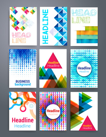 mobile marketing: Templates. Vector flyer, brochure, magazine cover template can use for print and marketing. Applications and Infographic Concept. Modern flat design icons for mobile or smartphone. Illustration