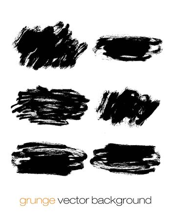 black grunge background: Grunge marker stains, lines, backgrounds and brushstrokes