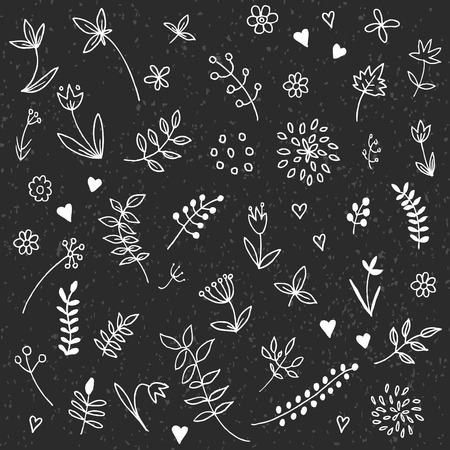Swirls, laurels, frames, leaves, banners and curls. Laurels. Wedding templates set with floral ornate elements Vettoriali
