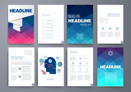 sjabloon: Templates. Ontwerp Set van Web, Mail, brochures. Mobile, technologie en Infographic Concept. Modern vlak en lijn iconen. App UI-interface mockup. Web ux design.