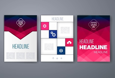 magazine layout: Templates. Design Set of Web, Mail, Brochures. Mobile, Technology, and Infographic Concept. Modern flat and line icons. App UI interface mockup. Web ux design.
