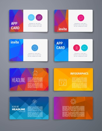 Template business card abstract geometric vector template layout template business card abstract geometric vector template layout design for flyer placard flashek Image collections