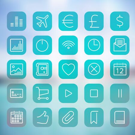 web site: Modern flat user interface icons for mobile smart phone or web site.