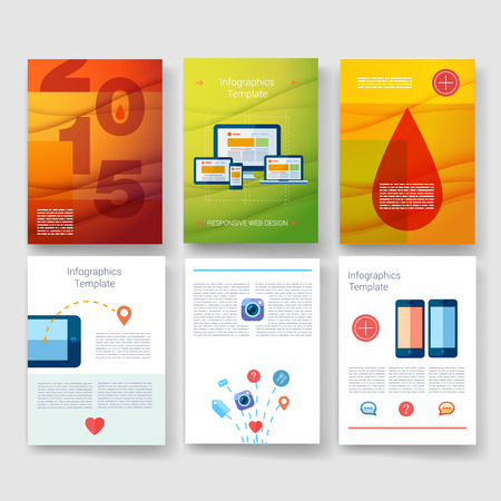 med: Templates. Design Set of Web, Mail, Brochures. Mobile, Technology, and Infographic Concept. Modern flat and line icons. App UI interface mockup. Web UI design.