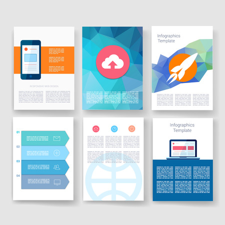 geometric design: Templates. Design Set of Web, Mail, Brochures. Mobile, Technology, and Infographic Concept. Modern flat and line icons. App UI interface mockup. Web UI design.
