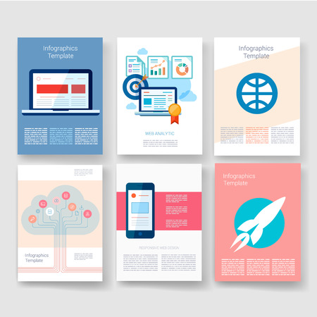 design process: Templates. Design Set of Web, Mail, Brochures. Mobile, Technology, and Infographic Concept. Modern flat and line icons. App UI interface mockup. Web UI design.