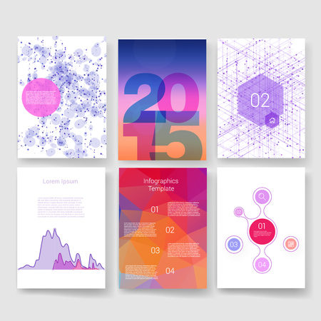 brochure cover: Templates. Design Set of Web, Mail, Brochures. Mobile, Technology, and Infographic Concept. Modern flat and line icons. App UI interface mockup. Web ux design.