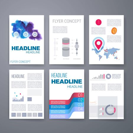 web elements: Templates. Design Set of Web, Mail, Brochures. Mobile, Technology, and Infographic Concept. Modern flat and line icons. App UI interface mockup. Web ux design.