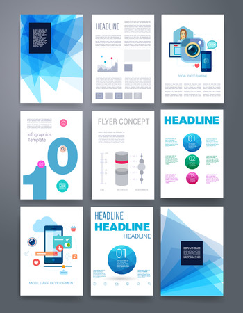 design graphic: Templates. Design Set of Web, Mail, Brochures. Mobile, Technology, and Infographic Concept. Modern flat and line icons. App UI interface mockup. Web ux design.