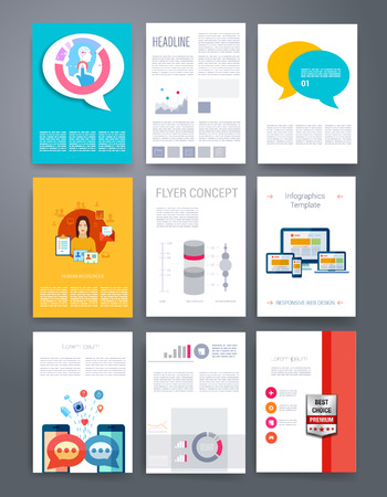 blank magazine: Templates. Design Set of Web, Mail, Brochures. Mobile, Technology, and Infographic Concept. Modern flat and line icons. App UI interface mockup. Web ux design.