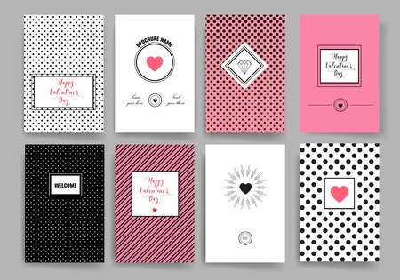 Set of Trendy Posters. Modern Hipster Style for Invitation, Business Contemporary Design. Hand Drawn Elements for Placards, Flyer