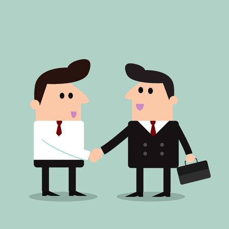 respect: business men handshake - Vector Illustration Illustration