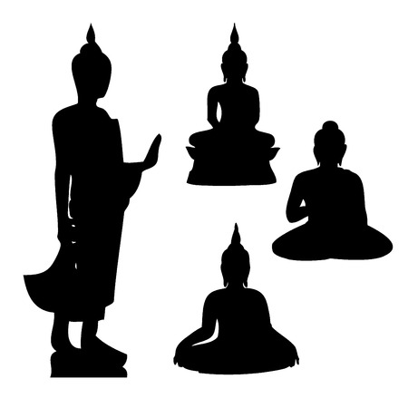 lotus temple: Buddha vector