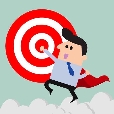 TARGET: businessman and Target Illustration