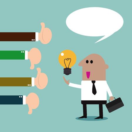 office stuff: Businessman feedback. Like and dislike. illustration Vector