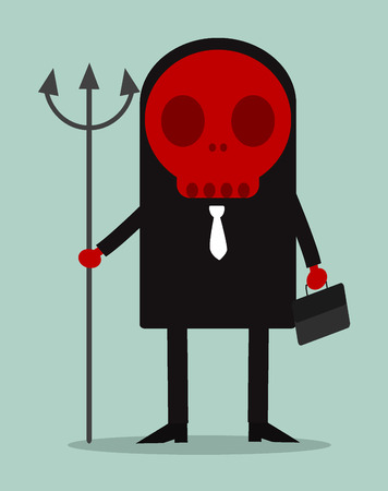 cheesy: A devilish businessman in a suit
