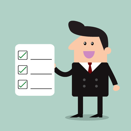 checklist: Businessman Checklist Illustration