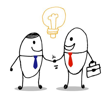business men handshake  Vector Illustration art Ilustração