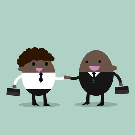 promising: business partners handshaking  Business people shaking hands