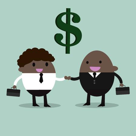 pacto: socios de negocios apretón de manos La gente de negocios dándose la mano Vectores