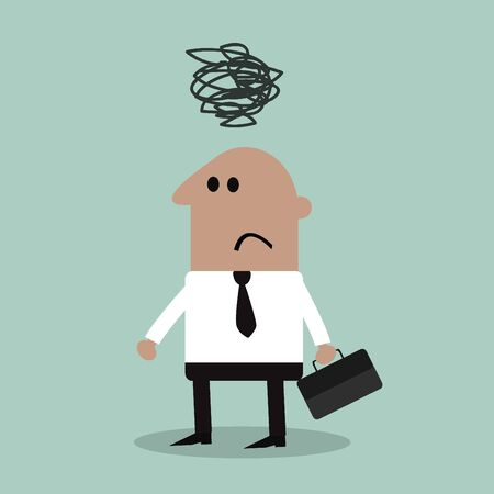 ponderous: depressed Businessman Illustration