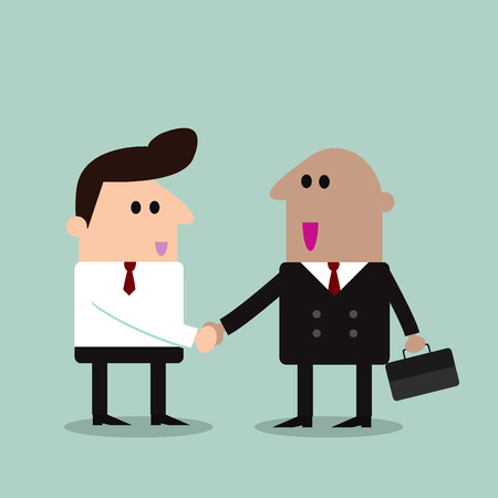 trustworthy: business partners handshaking  Business people shaking hands