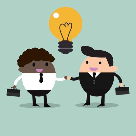 partners: business partners handshaking  Business people shaking hands