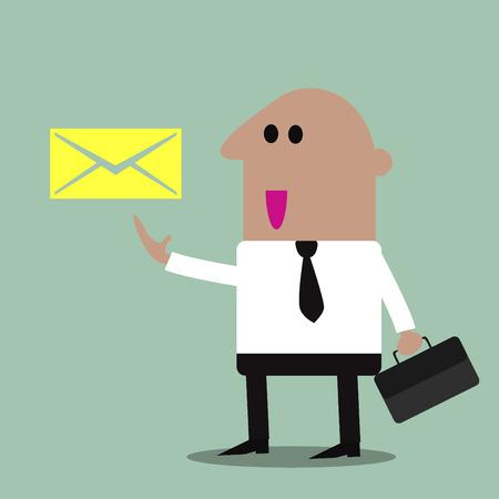 email us: Contattaci via e-mail illustrazioni Vettoriali