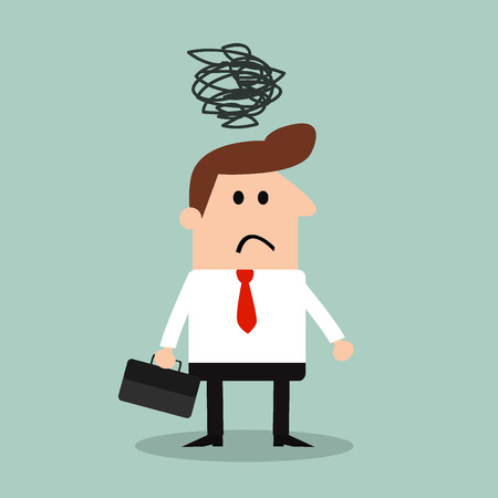 dogma: depressed Businessman Illustration