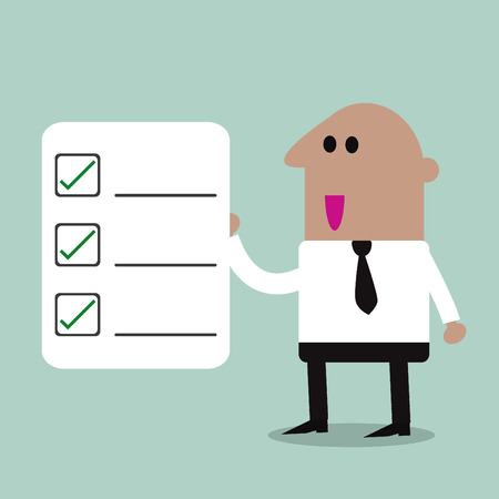Businessman Checklist Ilustrace