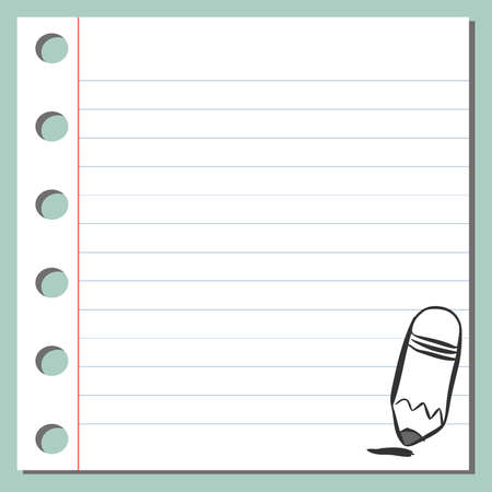 notebook: pencil on a notebook