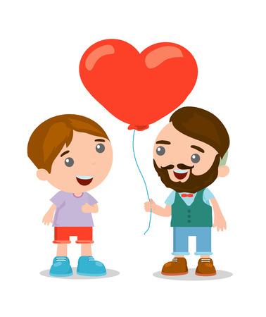 biracial: cute cartoon couple in casual clothes, romantic couple , vector Illustration