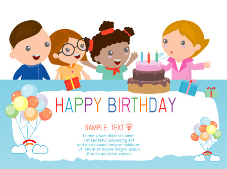kids background: Happy Birthday for kids.