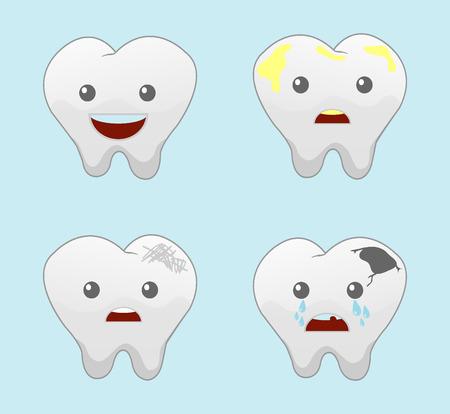 aching:  teeth vector icons set Illustration