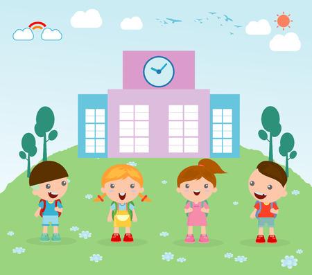 I bambini vanno a scuola Archivio Fotografico - 43901812