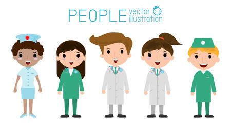 equipe medica: medico e infermiere medico, medico e equipe medica