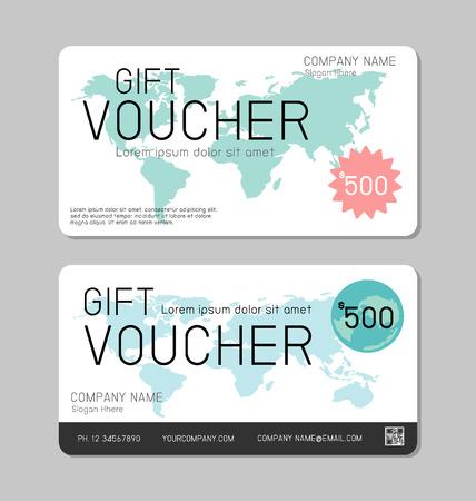reward: Gift voucher template and modern pattern. Voucher template with premium pattern, gift Voucher template with colorful pattern. bright concept.  Illustration