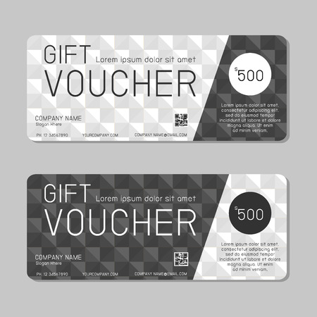 blank check: Gift voucher template and modern pattern. Voucher template with premium pattern, gift Voucher template with colorful pattern. bright concept.
