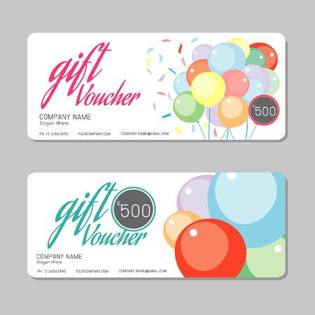 editable invitation: Gift voucher template and modern pattern. Voucher template with premium pattern, gift Voucher template with colorful pattern. bright concept.