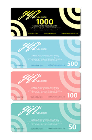 facture restaurant: Gift voucher template and modern pattern. Voucher template with premium pattern, gift Voucher template with colorful pattern. bright concept.