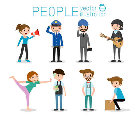 large  group: people characters, large group of people,People in various lifestyles