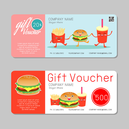 business invitation: Gift voucher template and modern pattern. Voucher template with premium pattern, gift Voucher template with colorful pattern. bright concept. Vector illustration