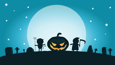 cosplay: vector illustration of Halloween monster Happy Halloween,Halloween Party