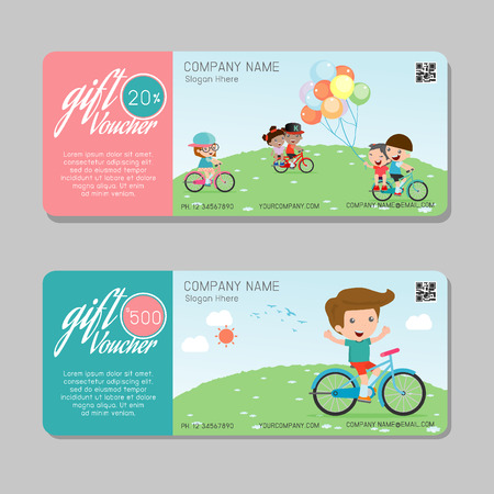 gift pattern: Gift voucher template and modern pattern. Voucher template with premium pattern, gift Voucher template with colorful pattern. bright concept. Vector illustration