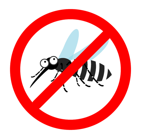 Segno anti zanzare, zanzara repellente per zanzare segnale di avvertimento, segnale di stop zanzara, nessuna zanzara. Archivio Fotografico - 52523321