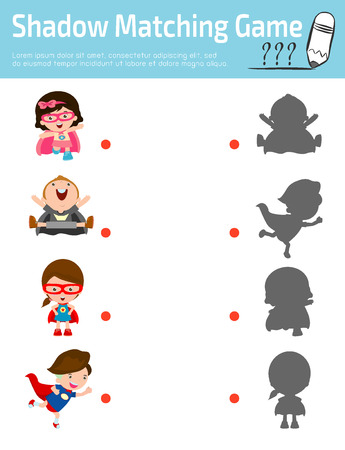shadow people: Shadow Matching Game for kids, Visual game for kid.