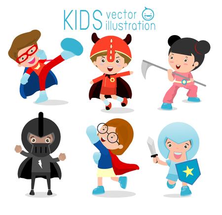 Superhero Children's, Superhero Kids,Kids With Superhero Costumes set