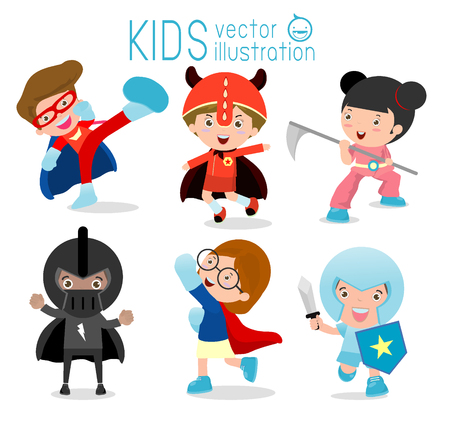 strong wind: Superhero Childrens, Superhero Kids,Kids With Superhero Costumes set